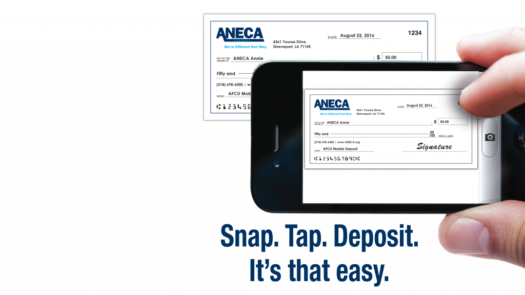 mobile deposit using the mobile app