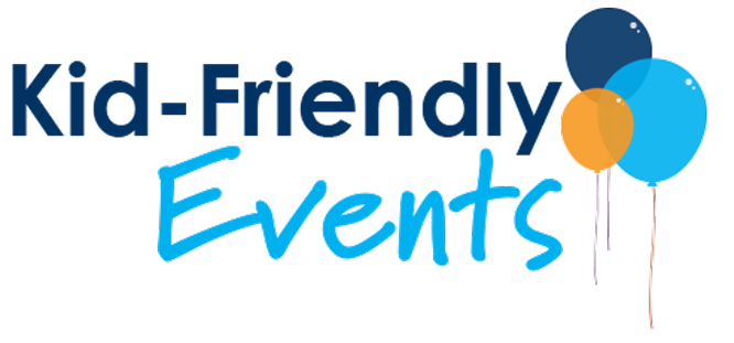 Kid Friendly Events logo with balloons